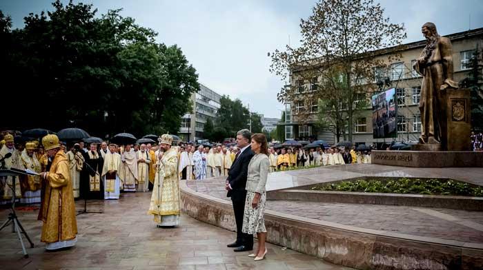 Відкриття пам'ятника андрею шептицькому у Львові